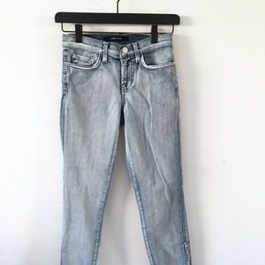 J Brand Skinny Crop Ankle Jeans Sz 25 Light Wash
